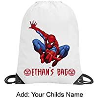 Boys Spiderman Personalised Bag Swimming PE Gym Dance School Gift Any Child Name