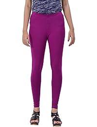 Banzia Women's Cotton Leggings (Purple)