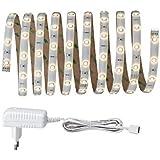 Paulmann Your LED Strip, LED Streifen 3m (Licht: warmweiß, dimmbar) Lichtleiste für indirekte Beleuchtung, LED Band zuschneidbar & selbstklebend, Farbe: Weiß