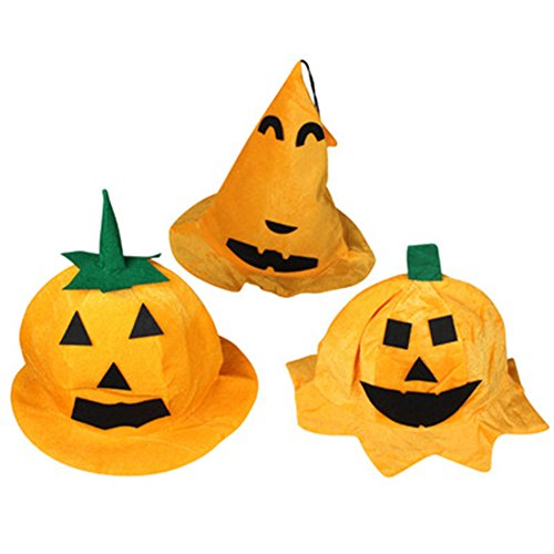 3x Demarkt Halloween Kürbis Hut Hexe Hut Kostüm für Halloween Party