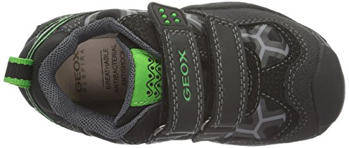 Geox J New Savage Boy B Jungen Sneakers Schwarz (Black/GREENC0016)
