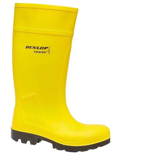 Dunlop, Stivali Wellington uomo Giallo (giallo)