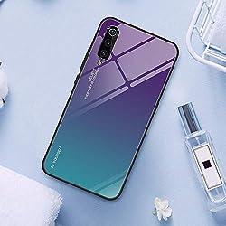 Aurora Coque en Verre Couleur pour Xiaomi Mi 9 Se 9 Mi9 Coque pour Xiaomi Mi 8 Lite Mi A2 A1 5X 6X Mi Mix 3 2s Max 3 boîtier 01 pour Xiaomi Mi 8 Lite for Xiaomi Mi 9 03