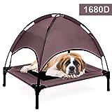Jolitac Elevated Pet letto rialzato letto cane gatto Outdoor raffreddamento lettino da campeggio, viaggio rimovibile con baldacchino