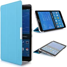iHarbort® Samsung Galaxy Tab Pro 8.4 Funda - ultra delgado ligero Funda de piel de cuerpo entero para Samsung Galaxy Tab Pro 8.4 pulgada T320 T325, con la función del sueño / despierta, azul