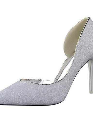 WSS 2016 Chaussures Femme-Habillé / Soirée & Evénement-Noir / Bleu / Argent / Or-Talon Aiguille-Talons-Talons-Synthétique blue-us8 / eu39 / uk6 / cn39