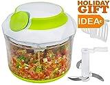 Best Herb Food Choppers - Brieftons QuickPull Food Chopper: Powerful Manual HandHeld Chopper/Mixer/Blender Review