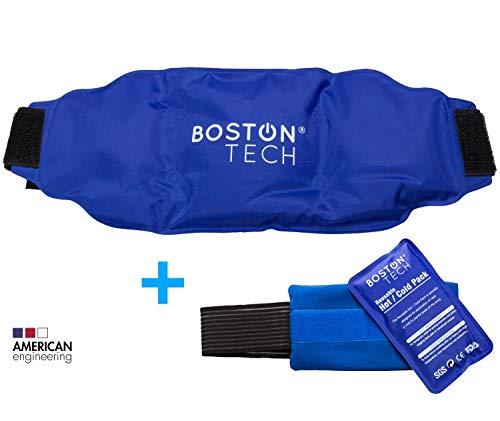 Boston Pak - 2 bolsas de gel frio y calor. Reutilizables, 1 con cinturon universal ajustable y 1 con banda de compresión. Ideal para dolores de espalda, hombro, rodilla, artrosis y lesiones