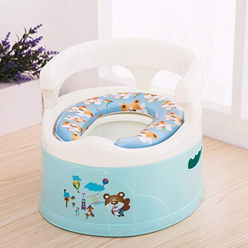 LWYJ Baby Kinder Töpfchen Toilettensitz Stuhl Urinal Tragbar mit Spritzschutz und Griff Rückenlehne,Blue (Töpfchen Stuhl Griffe)