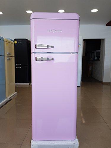 FIVE5Cents G215 / Schaub Lorenz SL 208 / Kühlgefrierkombination / Pink / Retro / Kühlschrank / KÜHL-GEFRIERKOMBINATION / Rippenlos