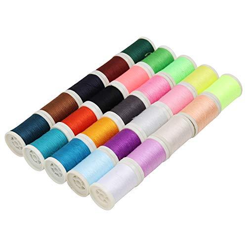 Curtzy - Polyester garn - 25er-Set Overlock Faden - Stickgarn Spulen in Verschiedenen Farben - Nahgarn zum mit der Nähmaschine oder fur Handarbeit - Bestes Garn-Set für Kunst und Handwerke
