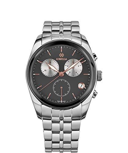 Jowissa Lux Swiss J7.098.L - Reloj para Hombre, Color Gris y Plateado