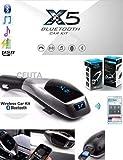 Ceuta Retails X5 Bluetooth Car Kit Mp3 Player FM Transmitter Handsfree Wireless USB