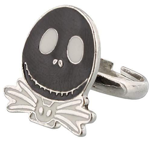 The Nightmare Before Christmas silberfarben Ring Jack mit weißer Fliege (Sally Und Ringe Jack)