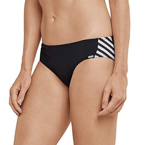 Schiesser Damen Mix & Match Bikinislip Panty Bikinihose, Schwarz 000, 46 (Herstellergröße: 046) - Mix Und Match Tankinis
