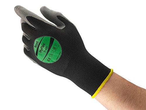 Ansell HyFlex 11-421 Gants pour usages multiples, protection mécanique, Gris, Taille 8 (Sachet de 12 paires)