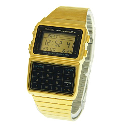 Casio Gold Data Bank. Back in the 80s these beautiful watches were the latest must have gadget, and if you had a gold Data Bank then you were classed as a YUPPIE!