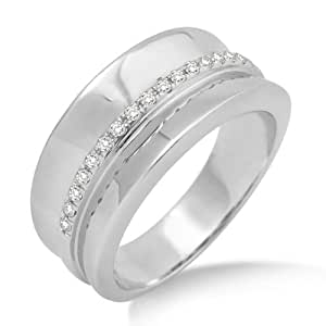 Miore Eternity Ring, 9ct White Gold, Diamond Eternity Ring, Size N, MP9016RO