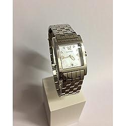 Clock Eberhard Women 61007ca Quartz (Rechargeable) quandrante Steel Mother of Pearl Steel Strap
