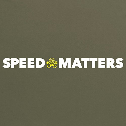PistonHeads Speed Matters New T-Shirt, Damen Olivgrn