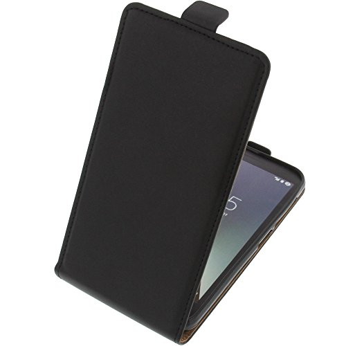 foto-kontor Tasche für Vodafone Smart E8 Smartphone Flipstyle Schutz Hülle schwarz