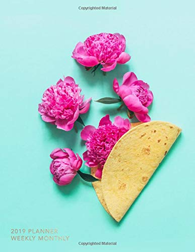 2019 Planner Weekly Monthly: Floral Taco |  Inspirational Quotes, Journal, Goal Trackers, To Do Lists + More por Nifty Notebooks