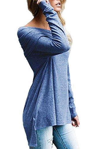 confit you - Sweat-shirt - Manches Longues - Femme bleu pigeon