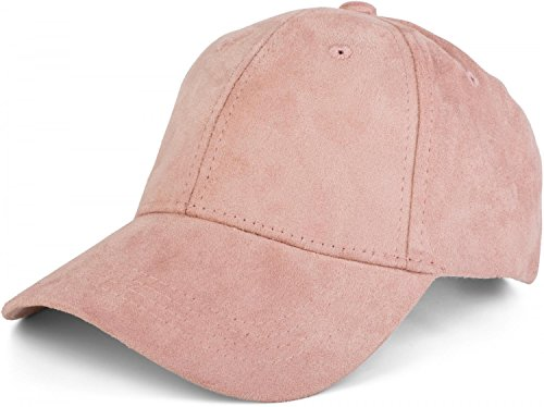 styleBREAKER 6-Panel Cap in Veloursleder, Wildleder Optik, Baseball Cap, verstellbar, Unisex 04023049, Farbe:Rose -