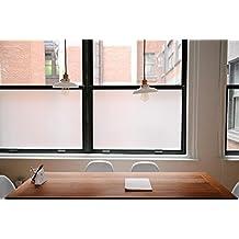 Fancy Fix Fensterfolie Dekorfolie Sichtschutzfolie Statische Folie Selbsthaftend Ohne Kleber Milchglasfolie 40x150cm