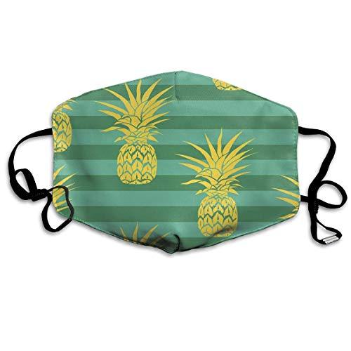 Vbnbvn Mundmaske,Wiederverwendbar Anti Staub Schutzhülle, Pineapple Green Design Personality Fashion Polyester Dust Mask Novel Mask for Women Lovers