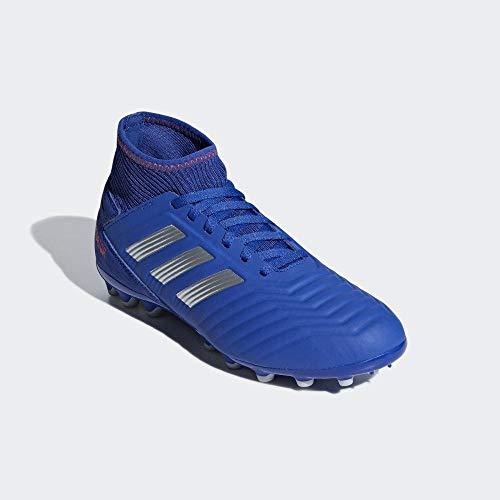 adidas Predator 19.3 AG J, Zapatillas de Fútbol para Niños, Azul (Boblue/Silvmt/Actred 000), 35.5 EU