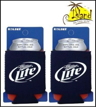 (2) Miller Lite Logo Bier kann Koozies