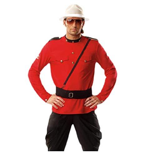 Top Totty Royal Herren Mountie Kostüm Rote Jacke und Schwarze - Mountie Kostüm