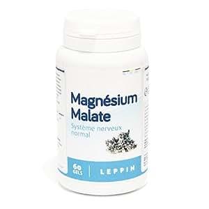 Leppin–Magnésium Malate, 60capsule–chelante di metalli pesanti–Alta biodisponibilità–Integratore alimentare naturale