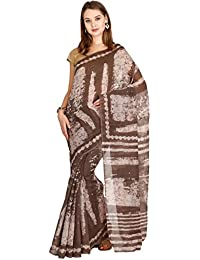 CLASSICATE From the house of The Chennai Silks Women's Bhagalpuri Synthetic Saree (CCMYSY7232, Morel Grey, Free Size)
