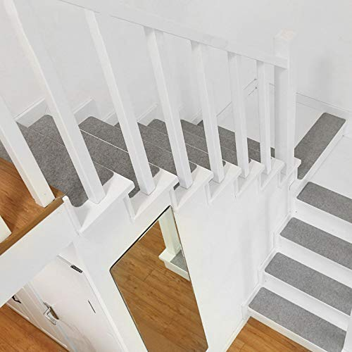 LLX Tapis D'escalier Tapis De Marche en Bois Massif Tapis D'escalier Antidérapant Tapis en Plastique Auto-adhésif 1 Ensemble De 6 Pcs,A-75 * 20 * 0.2