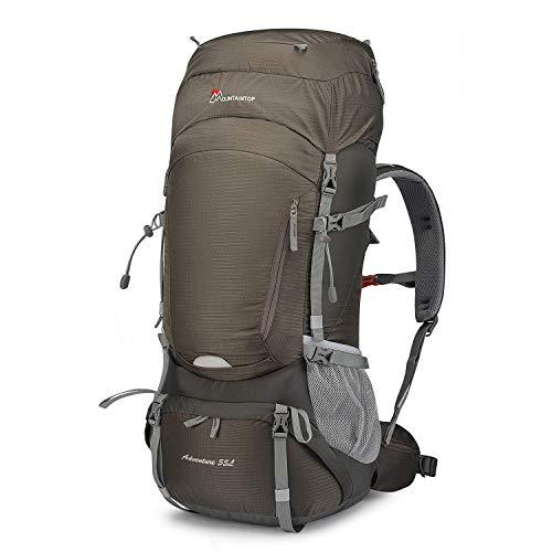 MOUNTAINTOP 55L Erwachsene Trekkingrucksäck Wanderrucksack Rucksack für Reisen Outdoor Klettern Camping mit Regenhülle