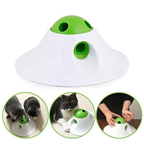 Womdee Suministros Mascotas Comedero Gatos Interactivo