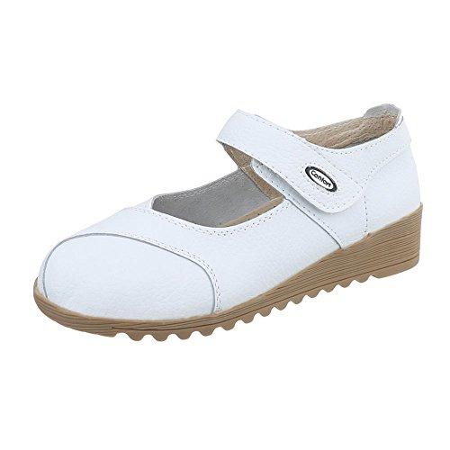 Wedges Chaussures Compensé 8011 Italdesign Femmes Talon Pour Blanc qIw8HxB