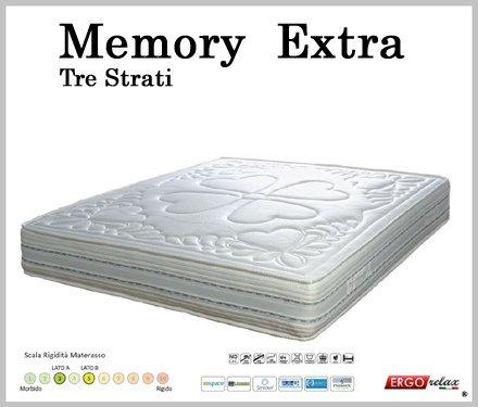 Materasso Memory Mod. Extra Waterlily Zone Differenziate Sfoderabile - Ergorelax - singolo - 80 cm x 200 cm