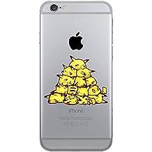 iPhone 5c Pikachu Caja del Silicón / Pokemon Cubierta del Gel para Apple iPhone 5C / Protector de Pantalla y Paño / Pirámide / iCHOOSE