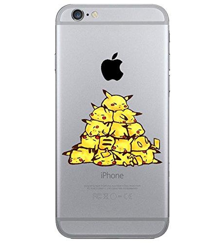 iPhone 5c Pikachu Coque en Silicone / Pokemon Couverture de Gel pour Apple iPhone 5C / Protecteur D'écran et Chiffon / Pyramide / iCHOOSE