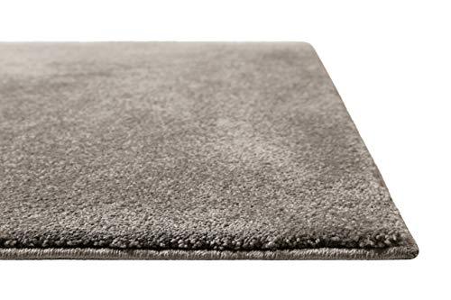 Homie Living   Kurzflor Teppich Super Soft, weich und kuschelig für Wohnzimmer, Schlafzimmer, Flur oder Kinderzimmer   Venice   Grau   (80 x 150 cm)