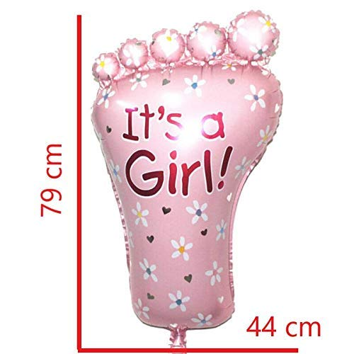 ower Folienballon XXL - In lebensechter Größe für eine Mädchen Babyparty ()
