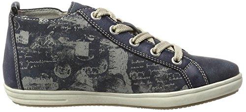 Rieker K3095, Sneakers Hautes Fille Bleu (Atlantis/jeans/hellgrau / 15)