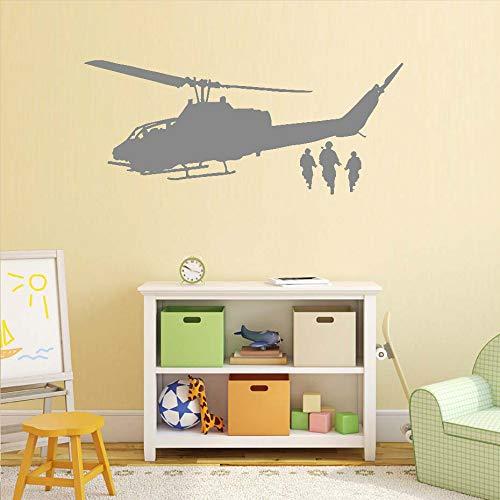 Yiyiyaya Etiqueta Pared calcomanía helicóptero niños