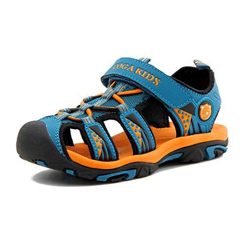 100% authentic 08c2d 4e650 Amazon Sandalen Jungen Geschlossen Outdoor Kinder Trekking Sandalette Boys  Klettverschluss Sommer Schuhe Wandern Wasser Unisex Blau Gr 24
