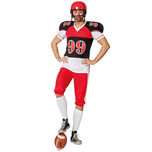 Kostüm Für Spieler Erwachsene Football - Wilbers NEU Herren-Kostüm American Football, Gr. 58-60