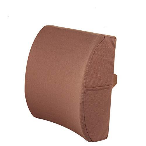 Komfort Produkte Taille Unterstützung Pad Speicher Baumwolle Home Auto Fahrsitz Schmerzlinderung Kissen 34X34 Cm Braun -
