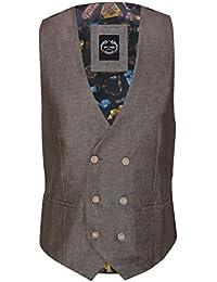 d45e3f53a34f Mens Linen Blazer Cotton Blend Retro Vintage Smart Casual Jacket Waistcoat